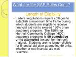 what are the sap rules cont2