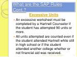 what are the sap rules cont3