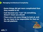 managing architectural complexity