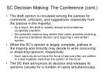 sc decision making the conference cont1