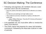 sc decision making the conference
