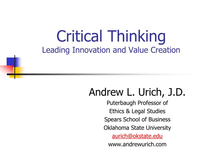 critical thinking and innovation within organizations The eight essentials of innovation operating system for innovation within a company's organizational structure and - get our latest thinking on your.