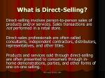 what is direct selling