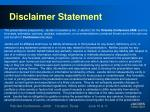 disclaimer statement