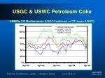 usgc uswc petroleum coke