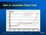 utah vs australian steam coal