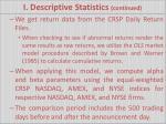 i descriptive statistics continued