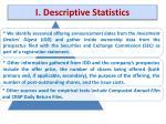 i descriptive statistics