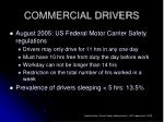 commercial drivers