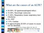 what are the causes of an alte
