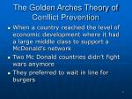 the golden arches theory of conflict prevention