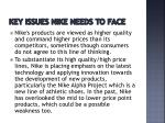 key issues nike needs to face