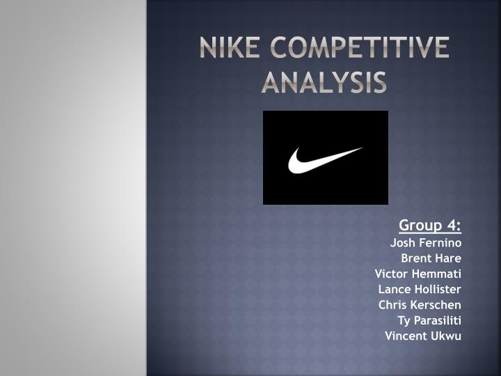 nike competitive analysis n.