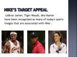 nike s target appeal