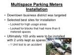 multispace parking meters installation1