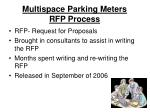 multispace parking meters rfp process