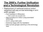 the 2000 s further unification and a technological revolution5