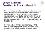 gender criticism questions to ask continued 2