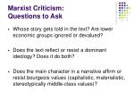 marxist criticism questions to ask