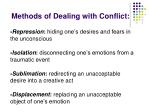 methods of dealing with conflict