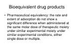 bioequivalent drug products