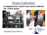 torque calibration