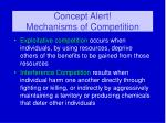 concept alert mechanisms of competition