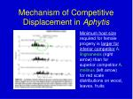 mechanism of competitive displacement in aphytis