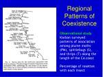 regional patterns of coexistence