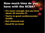 how much time do you have with the scba