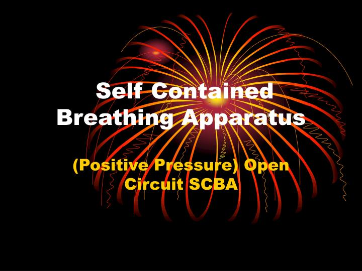 self contained breathing apparatus n.