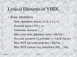 lexical elements of vhdl1