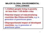 major global environmental challenges