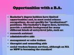 opportunities with a b a
