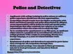 police and detectives