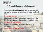 sd and the global dimension