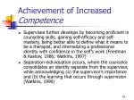achievement of increased competence