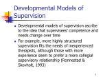 developmental models of supervision