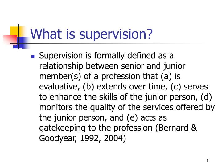 what is supervision n.