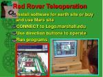red rover teleoperation