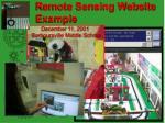 remote sensing website example