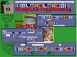 robolab programming for the city rcx