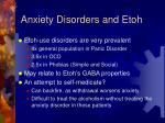 anxiety disorders and etoh