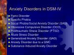 anxiety disorders in dsm iv
