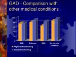 gad comparison with other medical conditions