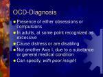 ocd diagnosis
