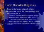 panic disorder diagnosis