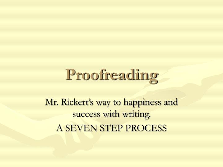 proofreading n.