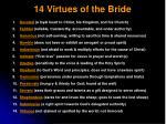 14 virtues of the bride