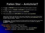 fallen star antichrist